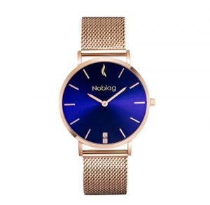 Noblag Luxury Women Gold Mesh Watch Stainless Steel Mesh Watch Bracelet Blue dial- 36mm