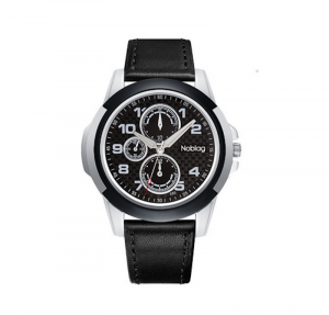 Noblag Luxury Sports Watches  For Men & Women Black Strap Black Dial  46mm