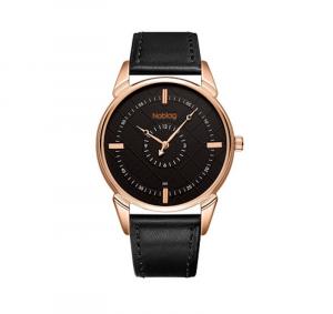 Noblag Luxury Black Watches For Men & Women Black Strap