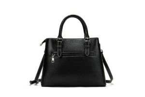 Noblag Luxury Top Layer Leather Tote Handbag For Women  Black