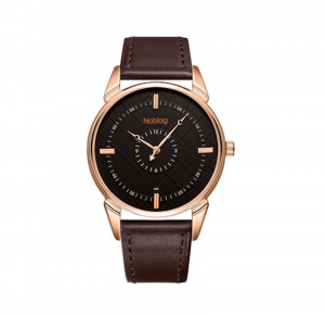 Noblag  Luxury Rose Gold Watches For Men & Women Brown Strap