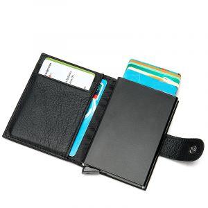 Noblag Luxury Slim Clip Wallet For Men & Women RFID Cowhide Leather