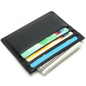 Noblag Luxury Leather Slim Card Holder  Wallet Case