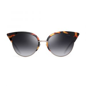 Noblag Luxury Cat-Eye Sunglasses Havana Acetate Gradient Lenses