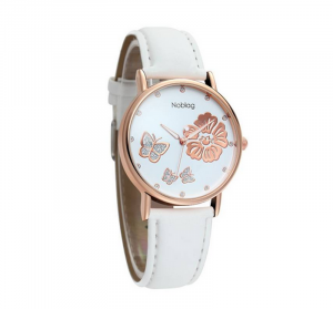 Noblag Mademoiselle Luxury Women's Watches Luminous White Strap 38mm