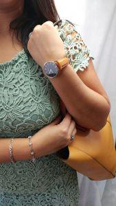 Noblag Luxury Minimalist Watach For  Women Tan Leather Strap Black Dial 36mm