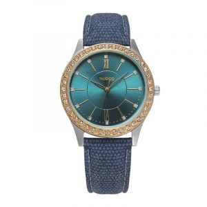 Noblag Mademoiselle Luxury  Women's Watches Online Green Dial Leather Strap 40mm