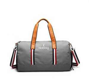 Noblag Luxury Travel Duffel Bag Gym Shoe Compartment Waterproof Grey