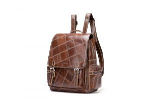 Noblag Luxury Women Genuine Leather Backpack Bag Coffee Large Capacity
