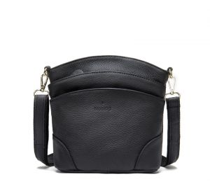 Noblag Luxury Genuine Small Leather Women Crossbody Shoulder Bag Black