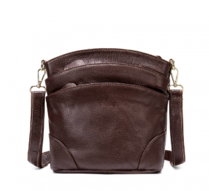 Noblag Luxury Women Leather Crossbody Shoulder Bag Coffee