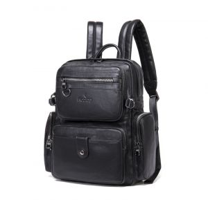 Noblag Luxury Large Leather Laptop Backpack School Bags For Men & Women