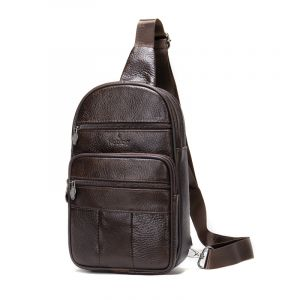 Noblag Luxury Men's Leather Coffee Messenger Bag Crossbody Sling Backpacks Shoulder Bag