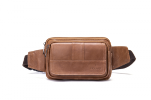 Noblag Luxury  Genuine Leather Unisex Brown Sling Bags Fanny Pack Waist Belt