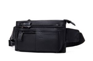 Noblag Luxury  Large Black Sling Bag Fanny Pack Shoulder Crossbody Bag For Men