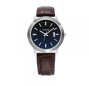 Noblag Luxury Minimalist Watch For Men & Women Brown Leather Strap 38mm