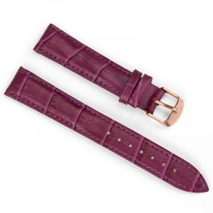 18mm Crocodile Purple Leather Strap