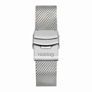 The N-Classic De Noblag Luxury Men's Stainless Steel Mesh Bracelet Watches 38mm White Dial
