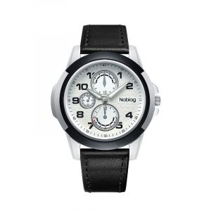 Noblag Luxury Sports Watches For Men And Women Black Strap White Luminous Dial 46mm