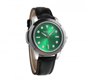 Noblag Luxury Sports Men's Watches Green Dial Black Leather strap 50mm