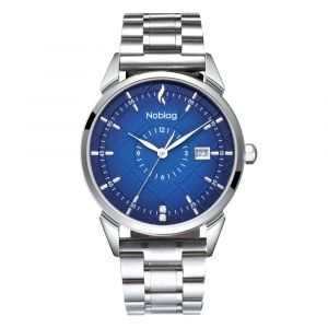 The N-Classic De Noblag Luxury Men's Blue Dial Watches Stainless Steel Band 38mm