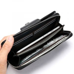 Noblag Luxury Travel Genuine Leather Long Wallet Unisex
