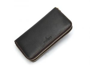Noblag Luxury Travel Genuine Leather Wallet Brown Unisex