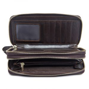 Noblag Luxury Travel Genuine Leather Wallet Brown Unisex
