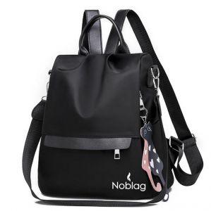 Noblag Luxury Waterproof Medium Women's Backpacks Travel Bag Black