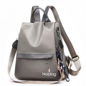 Noblag Luxury Waterproof Medium Women's Backpacks Travel Bag Khaki