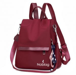 Noblag Luxury Waterproof Medium Backpack For Women Travel Bag Red