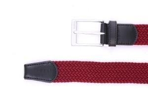 Noblag Luxury Woven Braided Belt For Men Elastic Red