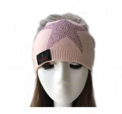 Noblag Luxury Beanie Hat Slouch Angora Wool Fur Pom Pink