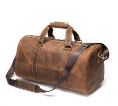 Noblag Luxury Duffel Bag Mens  With Shoe Compartment Crazy Horse Leather Bag Weekender