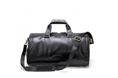 Noblag Luxury Large Leather Duffel Bag Weekender Shoe Signature