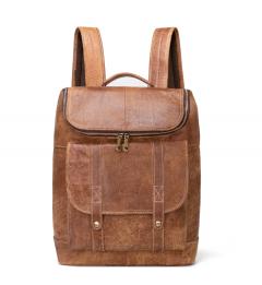 Noblag Luxury Genuine Leather Laptop Backpack, Business Laptop Bag, College Backpack Rucksack Brown