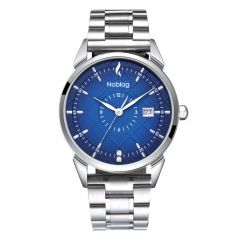The N-Classic De Noblag Luxury Men's Blue Dial Watches Stainless Steel Case 38mm